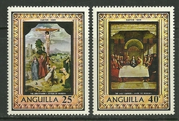"Anguilla   ""Easter 1969""   Set   SC# 68-69   MNH** - Anguilla (1968-...)"