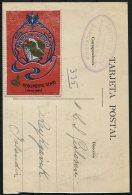 1922 Spain Barcelona Postcard - Iceland. Reggimento Genio Minatori Arma Del Genio Vignette - 1889-1931 Kingdom: Alphonse XIII