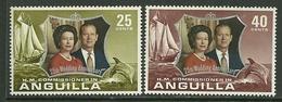 "Anguilla    ""Silver Wedding""   Set    SC# 161-62  MNH** - Anguilla (1968-...)"