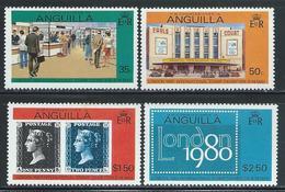 "Anguilla     ""Stamps Exhibition""""    Set    SC# 371a-74a   (perf. 14½)   MNH** - Anguilla (1968-...)"