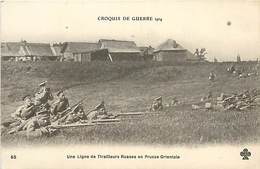 PIE-G-16-5088 :  RUSSIE LIGNE DE TIRAILLEURS RUSSES EN PRUSSE ORIENTALE - Russie