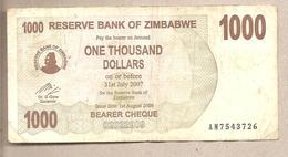Zimbabwe - Banconota Circolata Da 1000 Dollari - 2006 - Zimbabwe