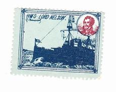 Vignette Militaire Delandre - Angleterre - H.M.S. Lord Nelson - Erinnofilie