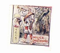 Vignette Militaire Delandre - Milice Laotienne - Military Heritage