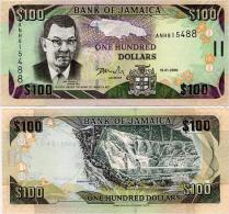 JAMAICA       100 Dollars       P-84d       15.1.2009       UNC - Jamaica