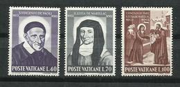 Vaticano. 1960_Tricentenarios. - Vaticano (Ciudad Del)