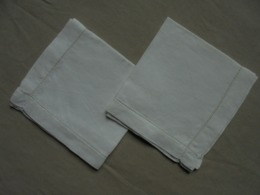 Ancien - 2 Mouchoirs En Coton Fabrication Artisanale - Mouchoirs