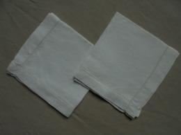 Ancien - 2 Mouchoirs En Coton Fabrication Artisanale - Taschentücher