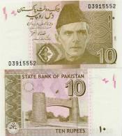 PAKISTAN       10 Rupees       P-45a       2006       UNC  [sign. Shamshad Akhtar] - Pakistan