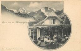 SWITZERLAND - GRUSS VON DER HEIMWEHFLUH - PEOPLE DINING IN RESTAURANT - UNDIVIDED BACK - VINTAGE ORIGINAL POSTCARD - BE Berne