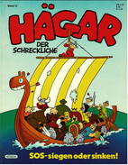 Hägar Der Schreckliche Nr. 12  -  SOS - Siegen Oder Sinken!  -  Ehapa Verlag 1985 - Books, Magazines, Comics