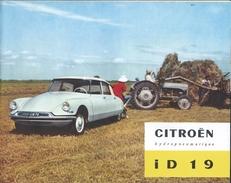 Automobile - Pub - CITROEN ID 19 - 1959 - - Voitures