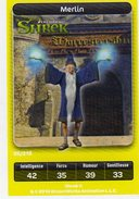 Carte Trading Card Disney Dreamworks Carrefour Shrek Merlin - Disney