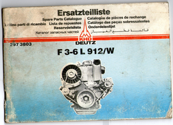 Catalogue De Piéces De Rechange Pour Moteur Deutz F 3-6l 912/w - Supplies And Equipment