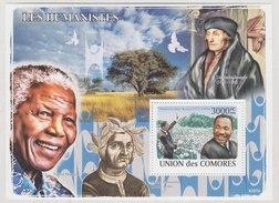 Martin Luther King, Nelson Mandela, Black Heritage, Freedom Fighter, Nobel Prize Winner, Dove Bird Jacopo  MS MNH Comoro