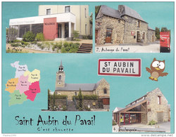35410St Aubin Du Pavail - C´est Chouette à St Aubin Du Pavail- Cartes Géographiques De Ille-et-Vilaine-cpm- Non écrit - France