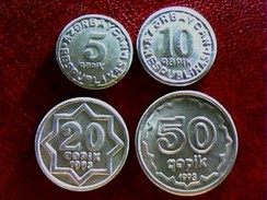 AZERBAIJAN 1992 - 1993 * FULL SET OF COINS *  UNC