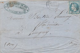 N° 29 O. Gros Chiffres 2680 Nonant (Orne), Cachet 15. Indice 7. - Poststempel (Briefe)