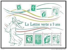 France Philatélie N° 4908 F  ** Anniversaire - La Lettre Verte A 3 Ans - Philately & Coins