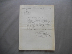 LA FERTE-MILON AISNE EMILE CHOLET & MAUGER TRANPORTS PAR EAU CERTIFICAT DE TRAVAIL D'UN MARINIER DU 10 AVRIL 1899 - France
