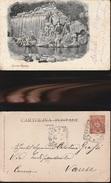 9074) CASERTA REGGIA LA CASCATA VIAGGIATA 1901 - Caserta