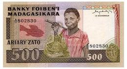 MADAGASCAR 500 FRANCS ND(1983-87) Pick 67 Unc - Madagaskar
