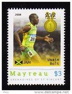 Grenadines Of St. Vincent / Mayreau 2012 MNH  Olympics 2012 London, Athletics, Medalists, Usain Bolt.