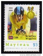 Grenadines Of St. Vincent / Mayreau 2012 MNH Olympics 2012 London,Cycling, Medalists,Bradley Wiggins