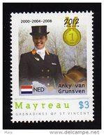 Grenadines Of St. Vincent/Mayreau 2012 MNH  Olympics 2012 London,Horsesride, Medalists, Anky Van Grunsven.