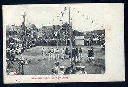 Cpa Du 22 Lannion Société Athlétique En 1908  JIP90bis - Lannion