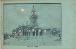 Hold To Light City Hall Leeds Carte à La Lumiere Edit W.H. Berlin No 3105 - Leeds