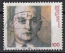 1767 Germania 1992 Jochen Klepper (1903-1942) Teologo Scrittore Poeta Viaggiato Used Bundespost Germany - Teologi