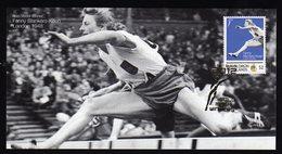 Solomon Islands Olympic Games 2012 Goldmedal Winner Fanny Blankers-Koen On Kind Of Memory Card.