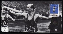 Solomon Islands Olympic Games 2012 Goldmedal Winner Gaston Reiff London 1948 On Kind Of Memory Card.