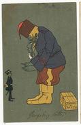 Satirical Russo Japanese War Big Kossack And Small Japanese Cosaque Biscottini Di Port Arthur Lushun To Ploesci Romania - Russia