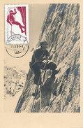 D28067 CARTE MAXIMUM CARD 1961 ROMANIA - MOUNTAIN CLIMBING CP ORIGINAL - Climbing