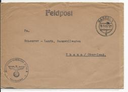 1941 - ENVELOPPE FELDPOST De KASSEL => THANN - Deutschland