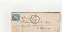N° 60 25c Bleu O. Gros Chiffres 4685 Céaucé (Orne), Cachet 24. Indice 11. - Storia Postale