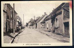 Cpa Du 36  Azay Le Ferron -- La Grand'rue JIP90bis - France