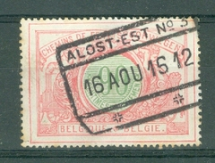 "BELGIE - OBP Nr TR 40 - Cachet  ""ALOST-EST Nr 3"" - (ref.AD-8610) - Railway"