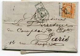 EURE ET LOIR De DREUX GC 1352 Sur N°16 Sur LAC Du 09/11/1868 - 1849-1876: Classic Period