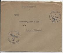 1942 - ENVELOPPE FELDPOST Nr.12838 Pour THANN (ALSACE) - Deutschland