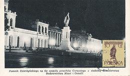D28093 CARTE MAXIMUM CARD 1956 POLAND - STATUE KRAKOW DZIERZYNSKIEGO - POSTMARK WARSZAWA CP ORIGINAL - Monumenti
