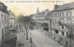 Caen - Boulevard St-Pierre - A Droite, Entrée Du Passage Bellivet - Edition M.C. Paris - Carte N° 109 Non Circulée - Caen