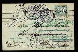 A4364) Niederlande Netherlands Karte Mehrfach Nachgesandt Von Rotterdam 8.9.11 - 1891-1948 (Wilhelmine)