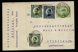 A4365) Jugoslawien Yugoslavia Karte Von Nowi Sad 5.8.22 Nach Deutschland - 1919-1929 Königreich Der Serben, Kroaten & Slowenen