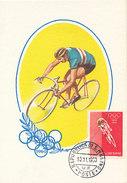 D28099 CARTE MAXIMUM CARD 1960 SAN MARINO - CYCLING RACING OLYMPICS ROME - IMPERFORATED STAMP CP ORIGINAL - Cycling