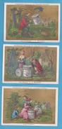 CHROMOS - LIEBIG  Série Complète Fables De La Fontaine, Dimensions Environ 7,5 X10,8(voir Descriptif) - Liebig
