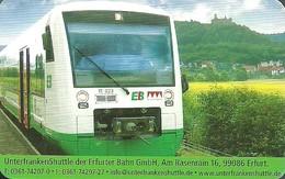 RAIL * RAILWAY * RAILROAD * TRAIN * RAILCAR * ERFURTER BAHN * ERFURT * THURINGIA * CALENDAR * EB 2009 2 * Germany - Calendarios