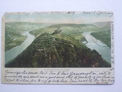 GERMANY MOSEL REGION - Die Marienburg Bei Alf A. Mosel Vom Aussichtsturm Gesehen - BULLAY Postmark - Allemagne